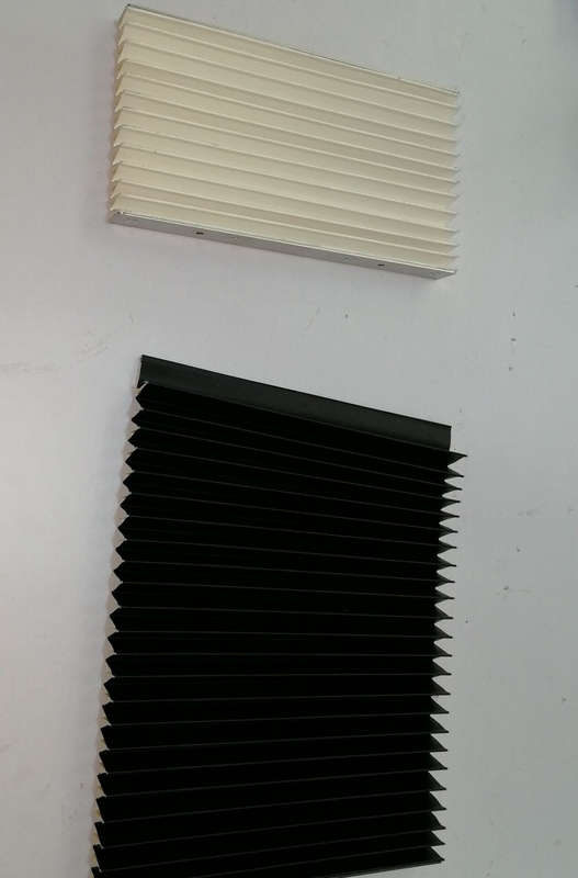 high quality heat- sealed machine cover bellows , way covers for  linear rails made with fabric +pvc
