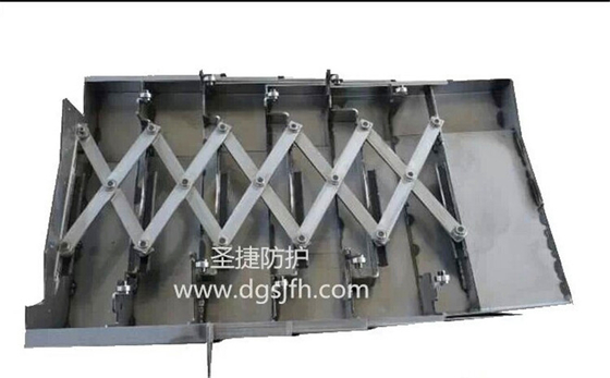 telescopic way  covers made by  metal  for cnc machine