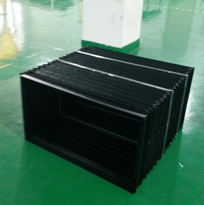 high quality black and yellow scissor life bellow /formost accordion skirting for protect mechanical parts keep safe