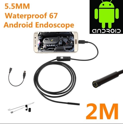 5.5mm waterproof 67 android  borescope with USB inspection camera HD6 LED 5