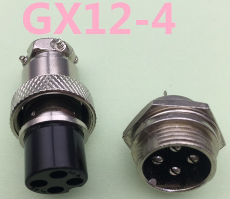 GX12 4Pin male & female 12mm wire panel connector aviation plug electrical connector socket plug