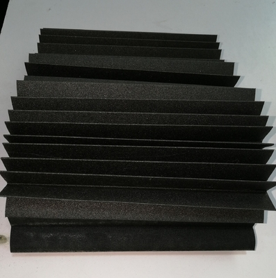 excellent water-resistance  folded bellow covers  black  colour for protect machine sliding guide