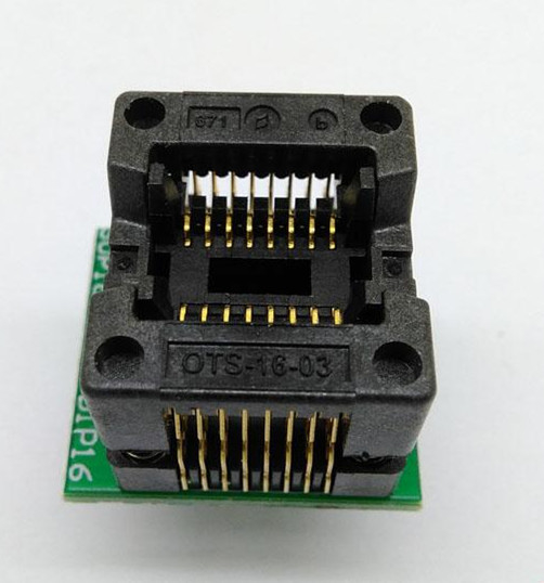 high quality SOP-16 -DIP  for IC tester socket programmer ,adapter with 8.5mm distance narrow body SMT
